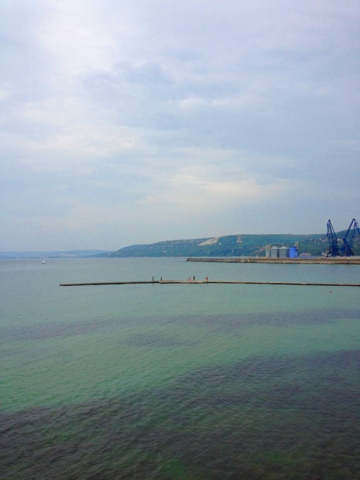 Picture of the harbor of the coastal town of Balchik in northeastern Bulgaria.