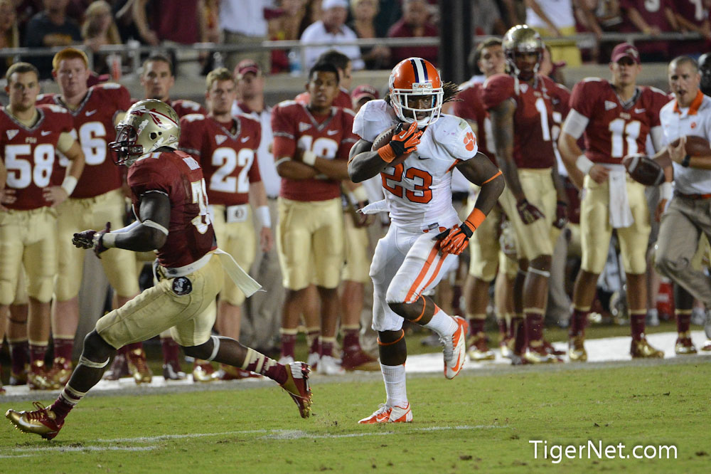 No. 10 Clemson at No. 4 Florida State (Second Half) Photos - 2012, Andre Ellington, Florida State, Football