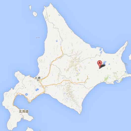阿寒湖モーターボートクルーズ・地図