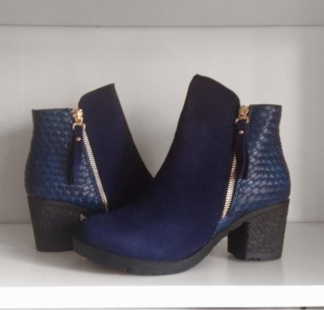 Sammi Jackson - Oasap Blue Chelsea Boots