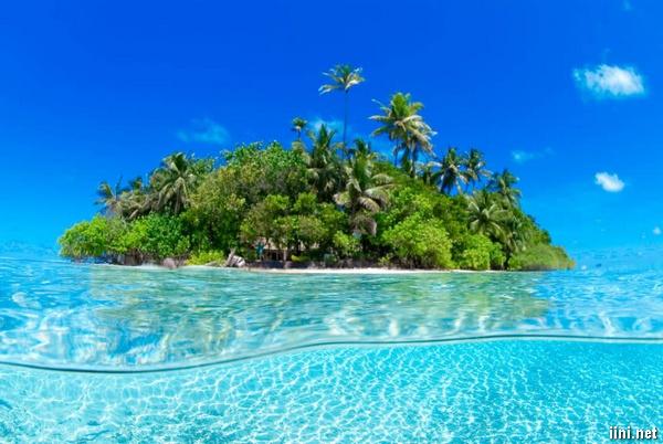 ảnh đảo nhỏ giữa biển cực đẹp