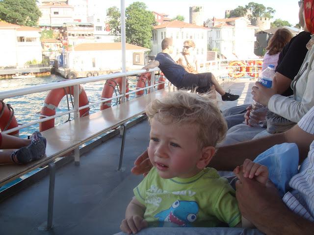 İstanbul Boğazı'nda teknede