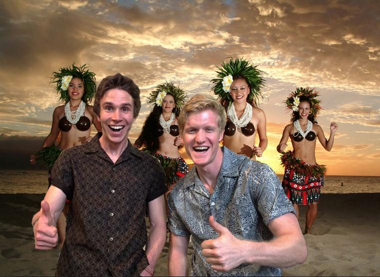 Men's Bawaiian Jared Robbie Hula Dancers