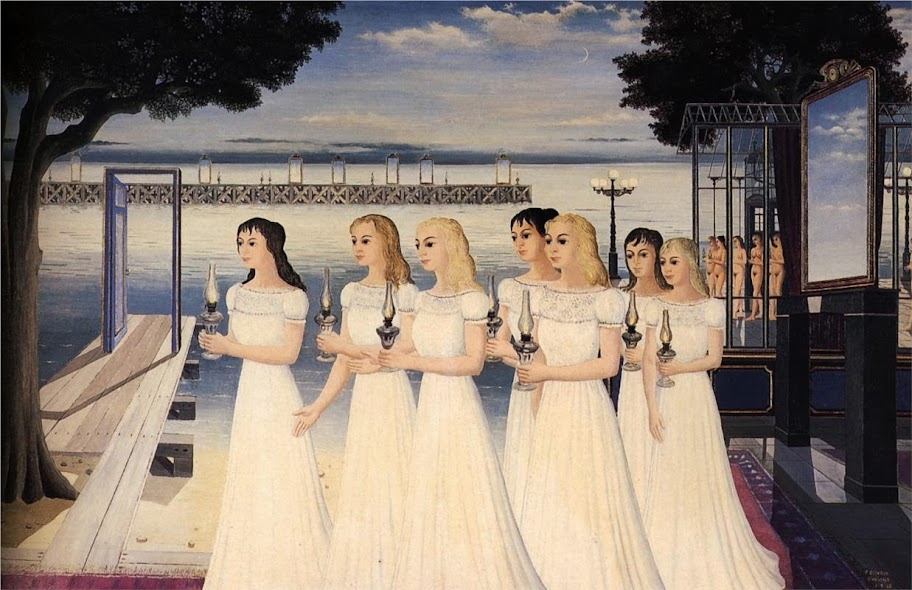 Paul Delvaux - The Wise Virgins, 1965