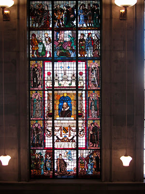 Shakespeare stained glass window