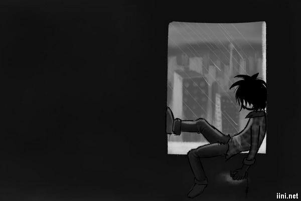 ảnh cô đơn trong mưa