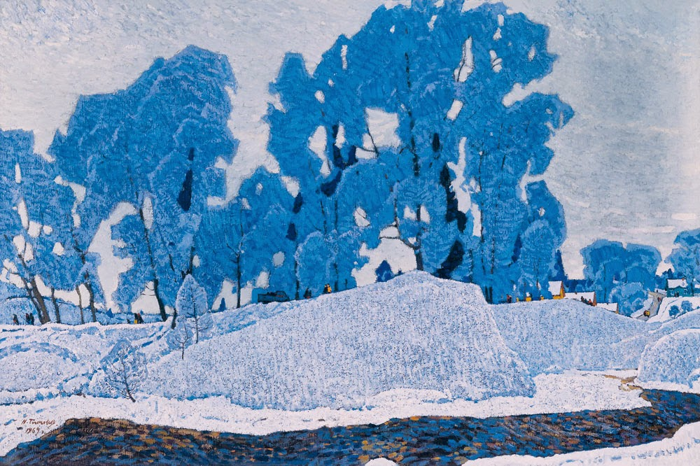 Nikolai Timkov - Russian Winter. Hoarfrost. 1969