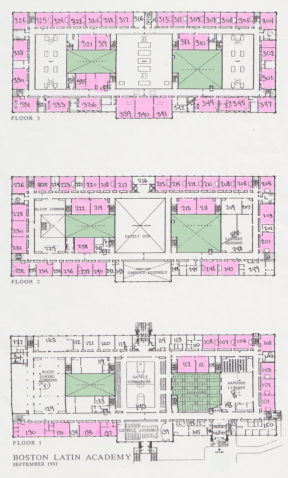 Floor Plans Boston Latin Academy S 75 Full Size Classrooms 205
