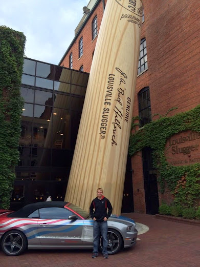 Chris Buescher Visits the Louisville Slugger Museum in Louisville, KY #RaceAroundAmerica
