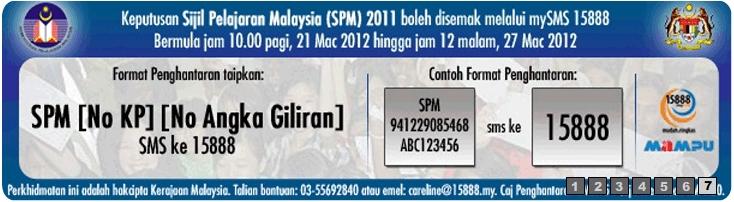 CARA SEMAK KEPUTUSAN SPM 2011 SECARA ONLINE DAN SMS 21 MAC 2012