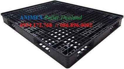 Pallet nhựa đen ngành cao su xuất khẩu