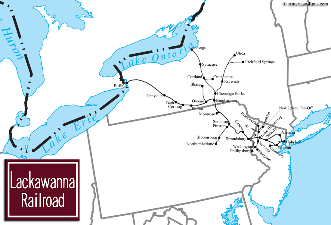 The delaware lackawanna and western railroad the route of phoebe