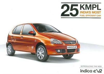 New Tata Indica eV2 green shade pics