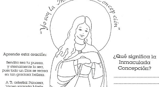 Dibujos Catolicos Imagenes De La Virgen De La Inmaculada