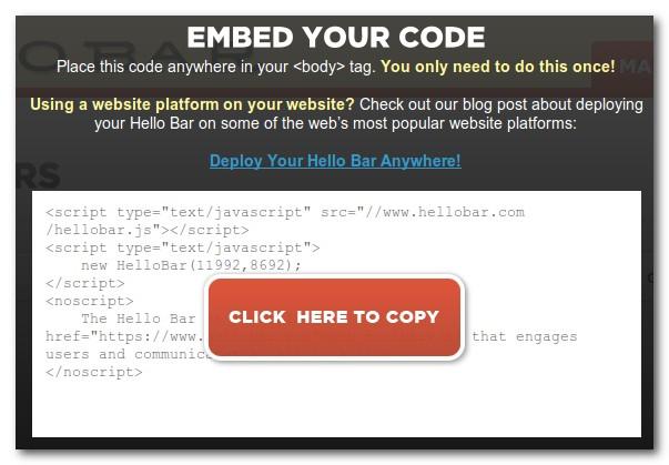 hello bar code