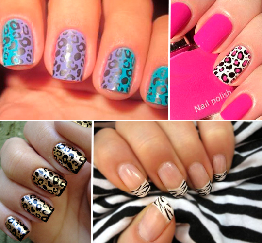Unhas decoradas Animal Print!