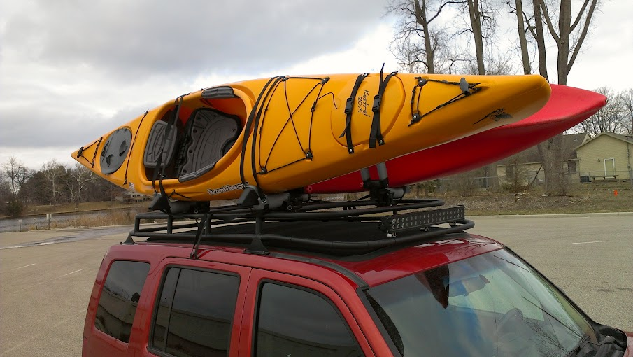 Lost Jeeps View Topic Kayaks On My Custom Kk Rack Over