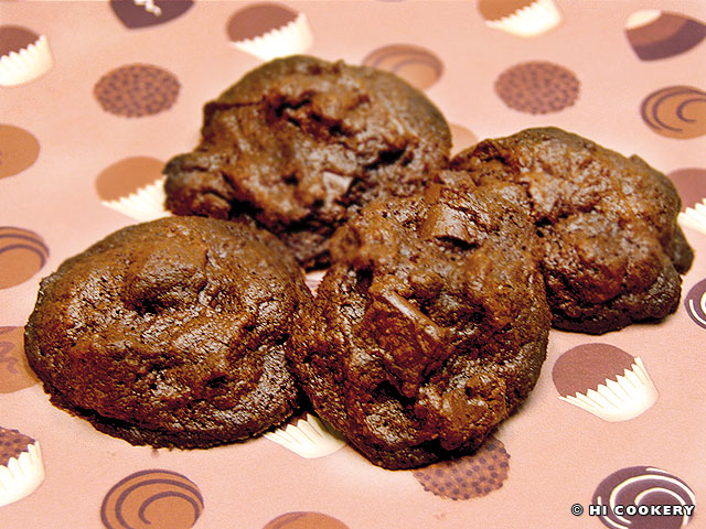 Chocolate Chocolate Chunk Cookies