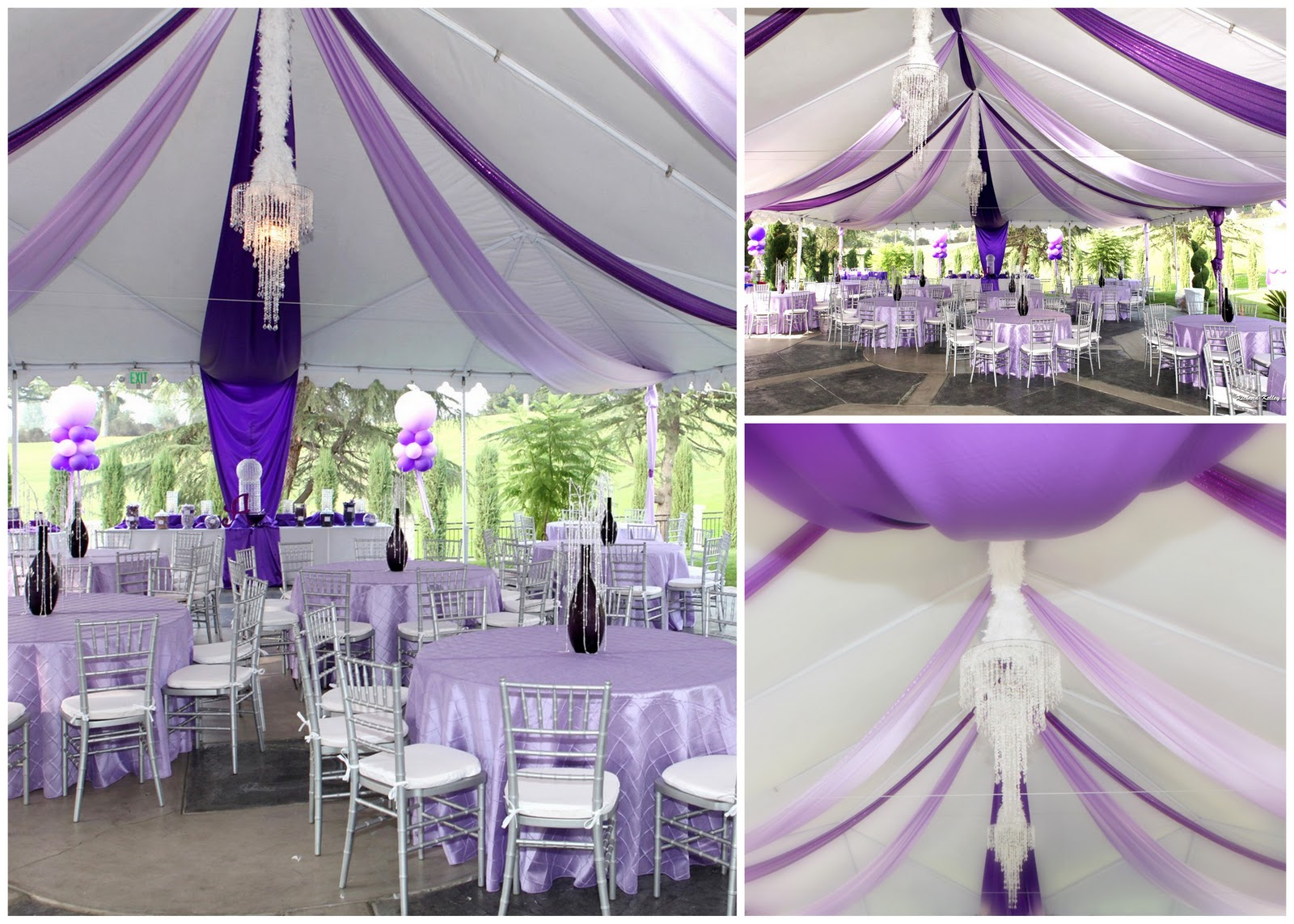 Decorated Wedding Tents Pictures  Chs creative productions purple palooza part iii final post & Decorated Wedding Tents Pictures: Chic wedding tent decoration ...