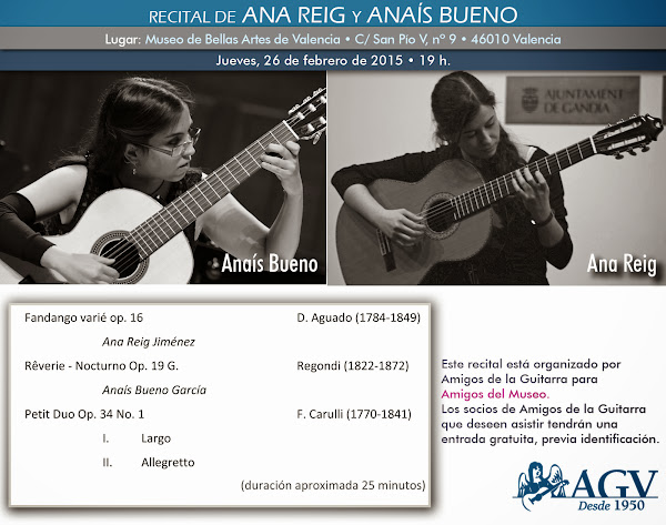 Recital de Ana Reig y Anaís Bueno