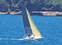 J/111 JAKE sailing off Sydney, Australia