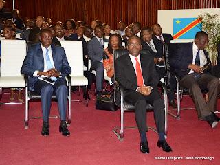 Le premier ministre, Matata Ponyo Mapon et les membres de son gouvernement le 15/04/2013 au palais du Peuple à Kinshasa, lors d'une plénière à l'assemblée nationale. Radio Okapi/Ph. John Bompengo
