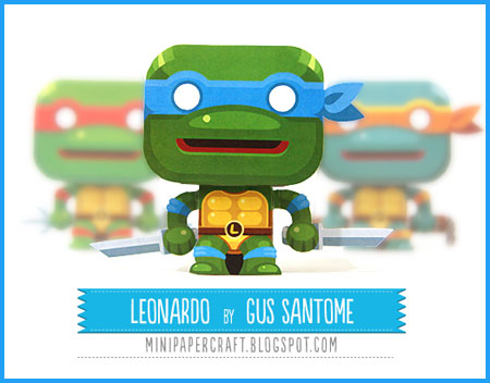 TMNT Mini Leonardo Paper Toy
