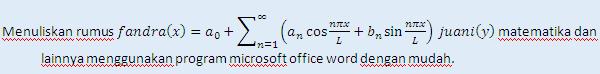 Cara menuliskan rumus di microsoft word