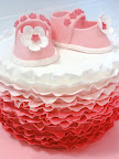 A perfect pink ruffle cake by Cathy Kingston