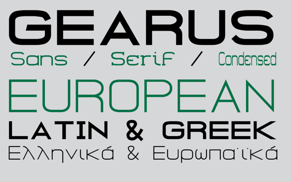 GEARUS Free Fonts