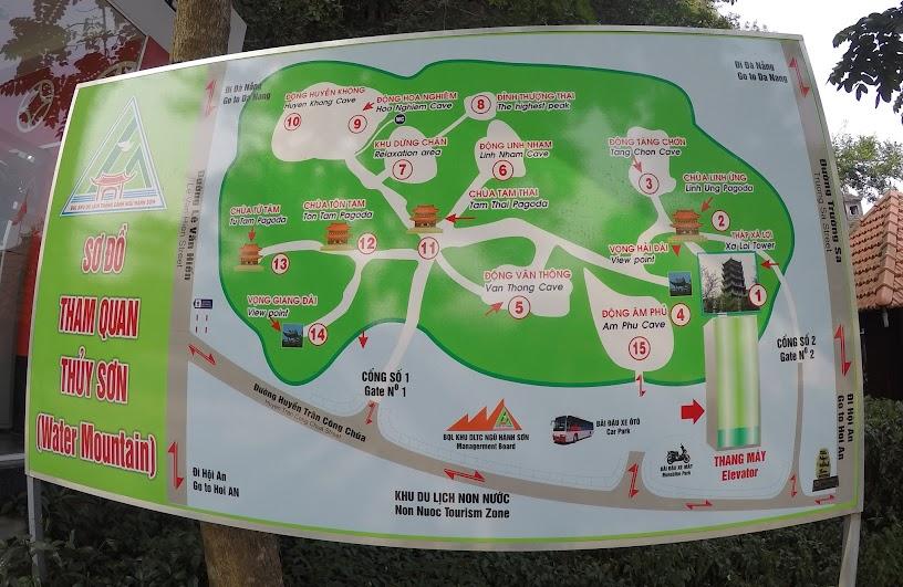 Bản đồ du lịch Ngũ Hành Sơn