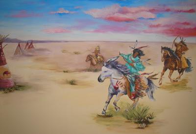 Native American Themed boy's room.