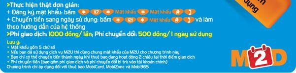 mobifone chuyển tiền thành ngày sử dụng