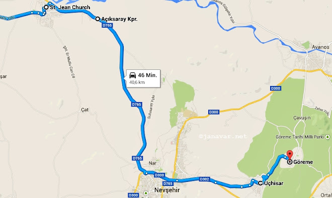 Day 1 Route Cappadocia
