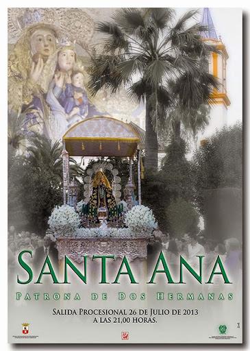 Cartel anunciador de la procesión de Santa Ana 2013