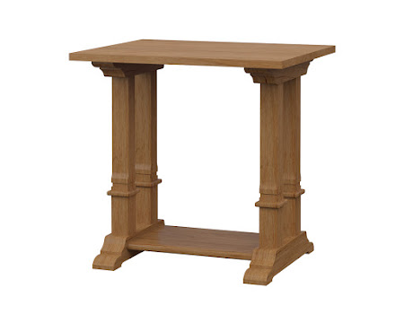 Tuscany End Table in Calhoun Maple