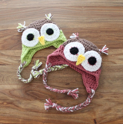 Not 2 late to craft: Barrets de mussol de ganxet / Crochet owl hats