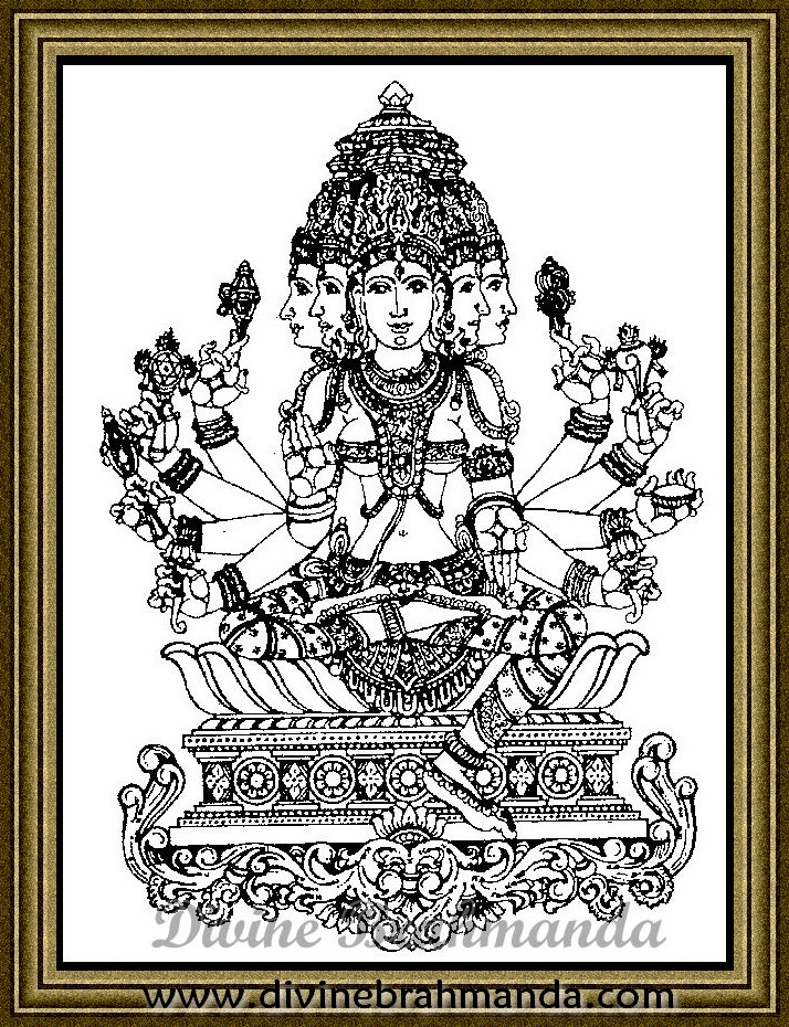 Soundarya Lahari Sloka, Yantra & Goddess For Relief From Fear - 70