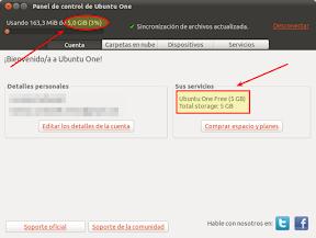 Tu cuenta de Ubuntu One ahora es de 5 GB y además gratis