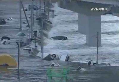 японское землетрясение вызвало цунами