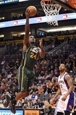 wearing brons nba lebron10 id paul milsap 05 Wearing Brons: Paul Millsap Rocks Nike LeBron X iD Jazz PEs