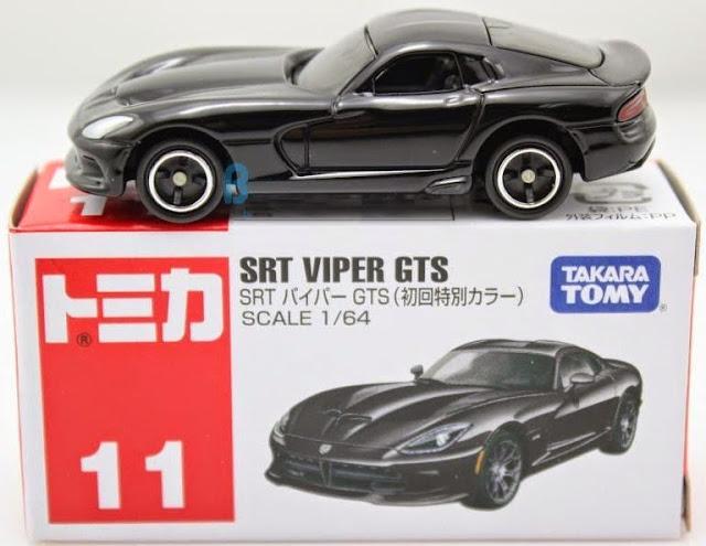 Chiếc xe Tomica 11 SRT Viper GTS màu đen có thiết kế chắc chắn, rất an toàn cho trẻ nhỏ