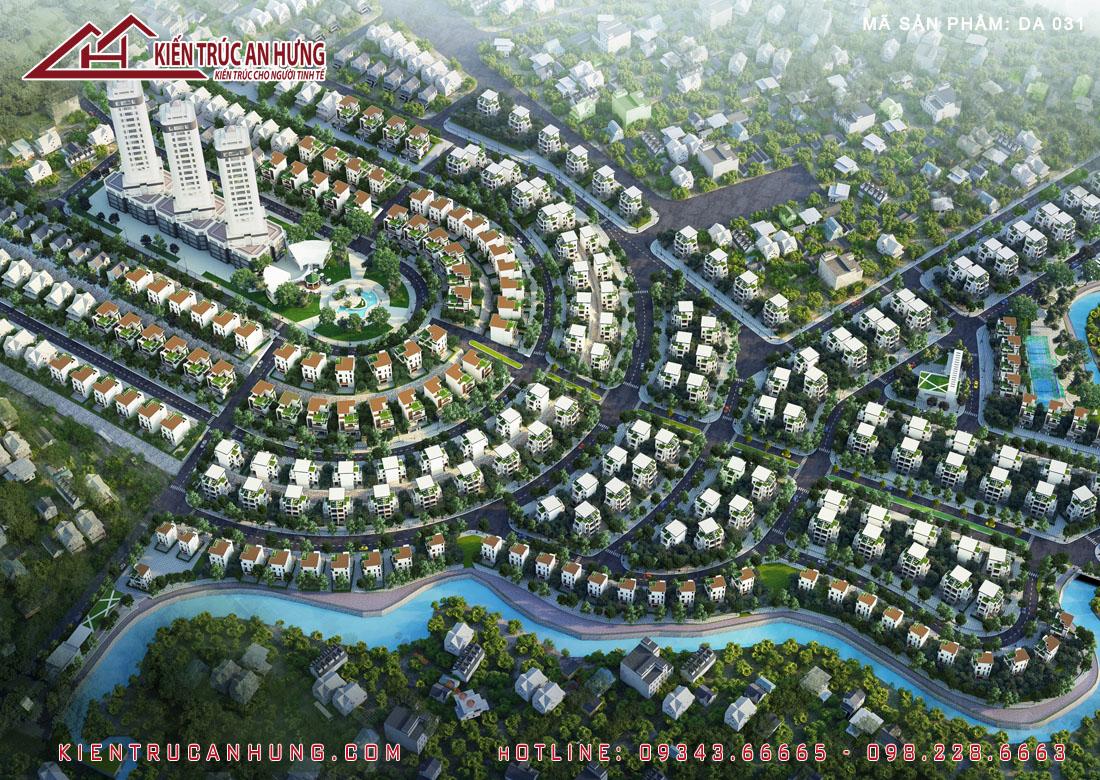 Thiết kế biệt thự đơn lập Khu đô thị Phú Cát