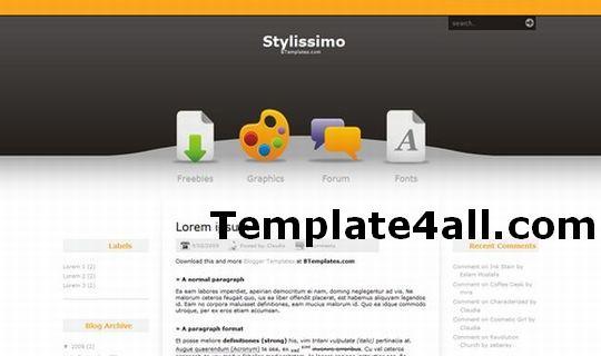 Free Blogger Arts Inspiration Orange Template
