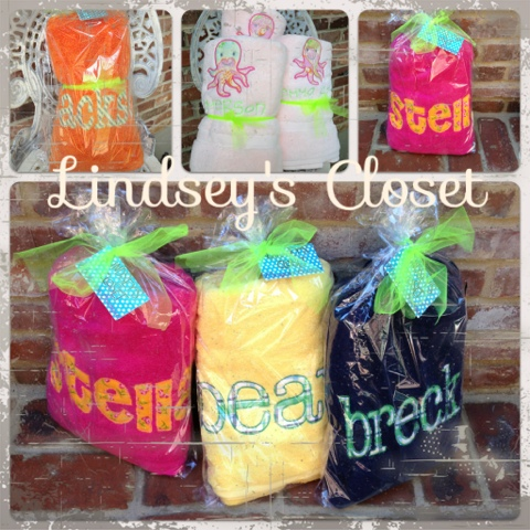 Lindsey's Closet: Personalized Appliqué Towels | Memphis Monogramming