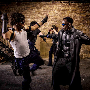 A New Blade (The DayWalker) In A Fight Scene With Bad Guys. Link To New Rebooted Blade's Page https:...
