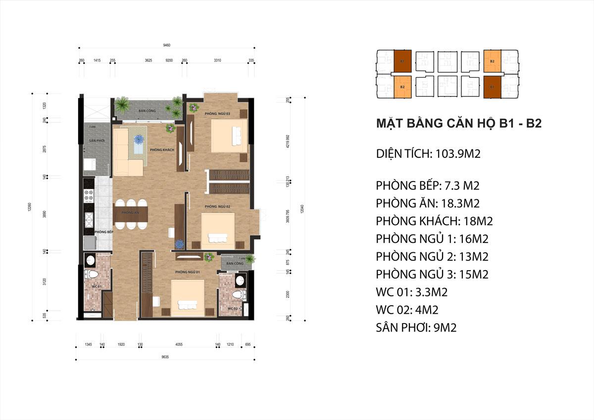 chi tiết căn hộ