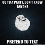 Pretend to text.