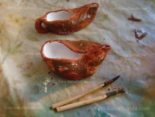 Trabajando la arcilla - Lamparas de aceite estilo romano DSC00057