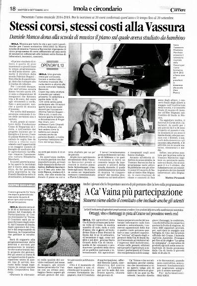 Il Corriere di Romagna, 9 settembre 2014